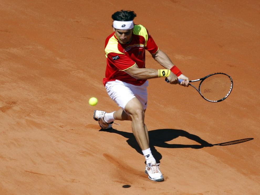 David Ferrer, durante el partido