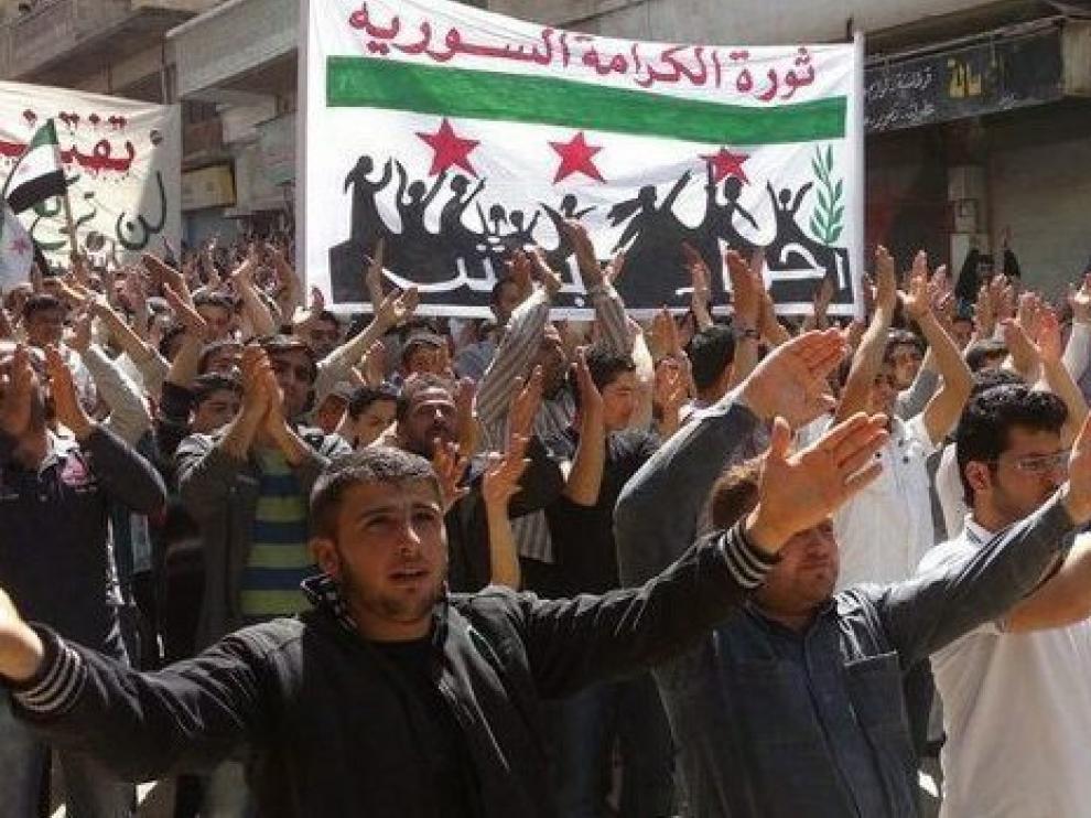 Foto de una manifestación antigubernamental, facilitada por los opositores
