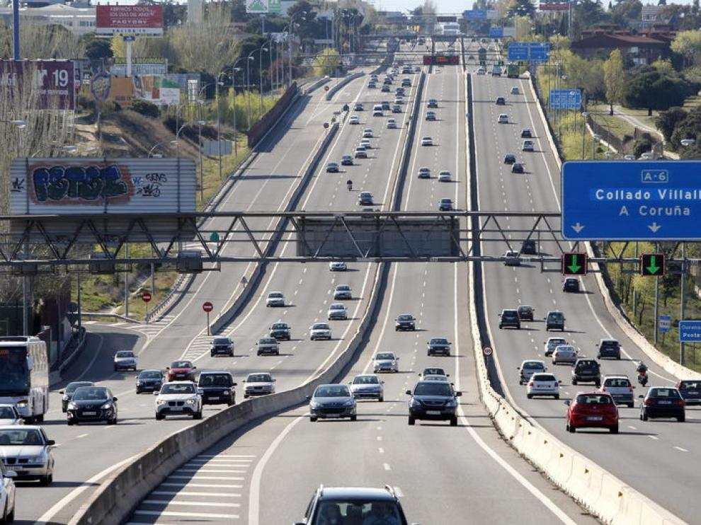 Uno de los accesos a Madrid