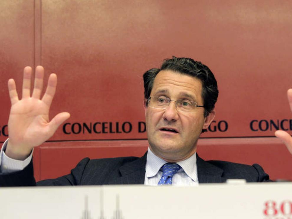 El alcalde de Santiago de Compostela, Gerardo Conde Roa.