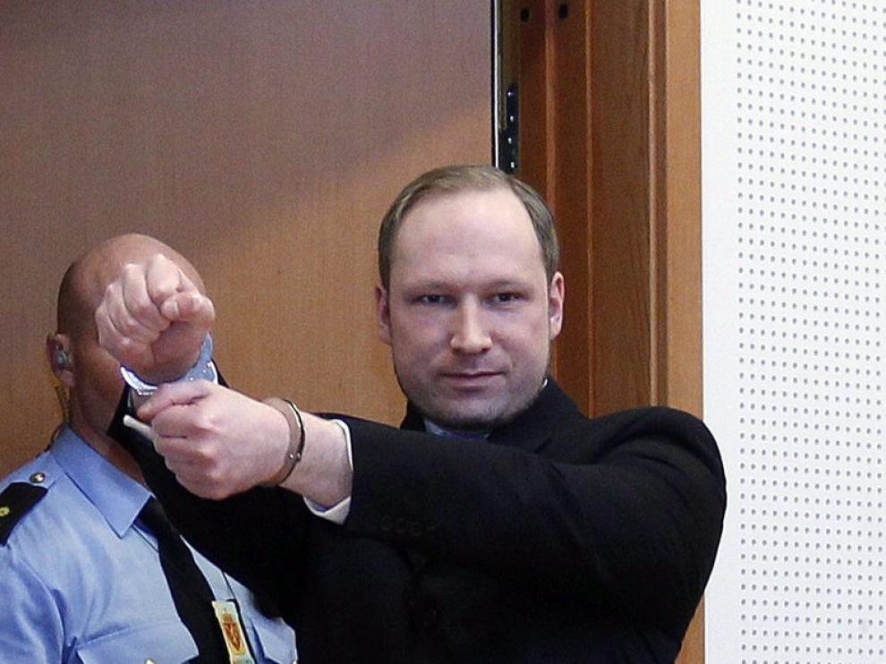 Breivik durante el juicio