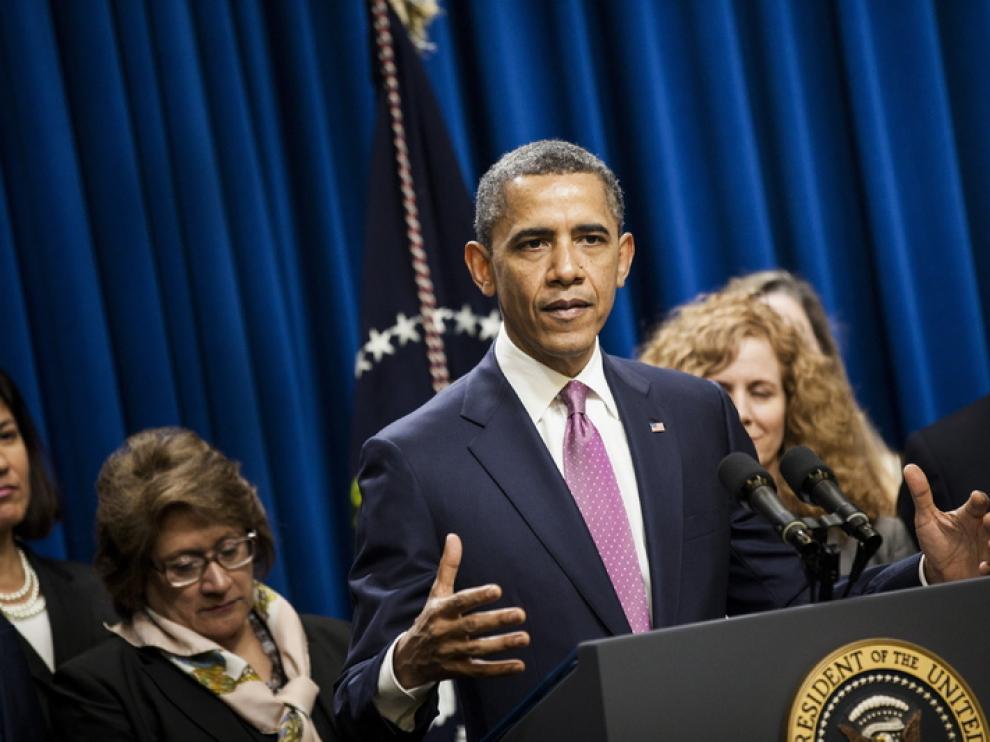 Barack Obama durante un evento en Washington.