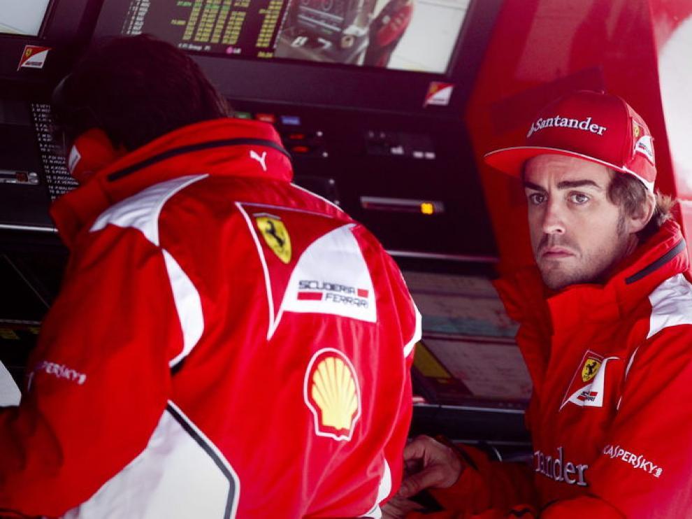 Alonso antes de rodar en China