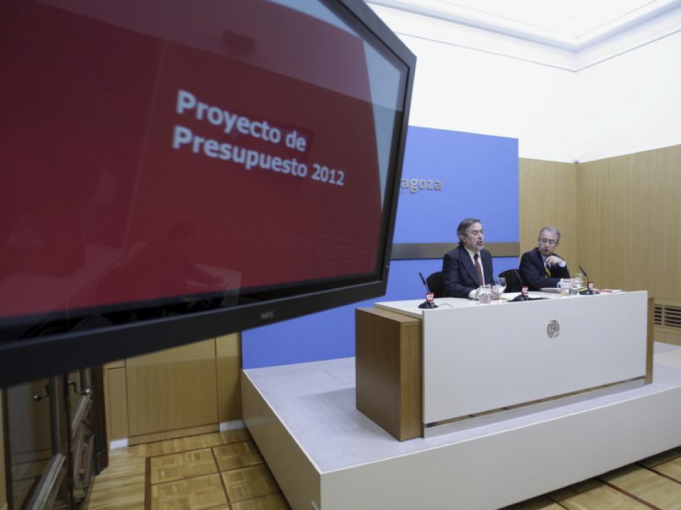 Belloch y Gimeno presentan los presupuestos