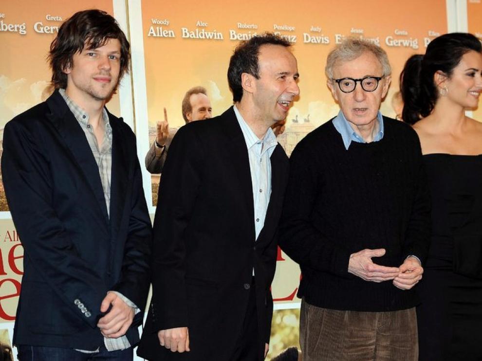 Penélope Cruz, Begnini y Woody Allen