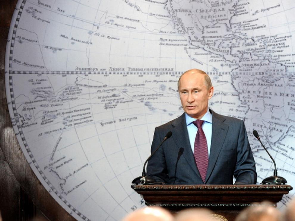 Putin, durante una conferencia