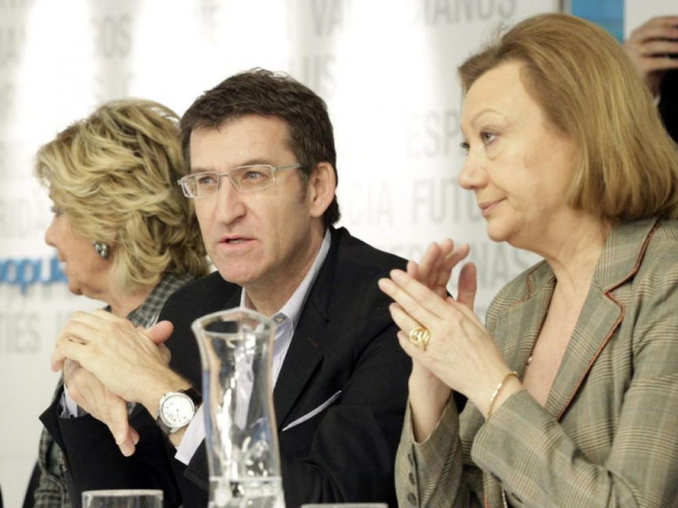 Luisa Fernanda Rudi, durante la reunión en Madrid