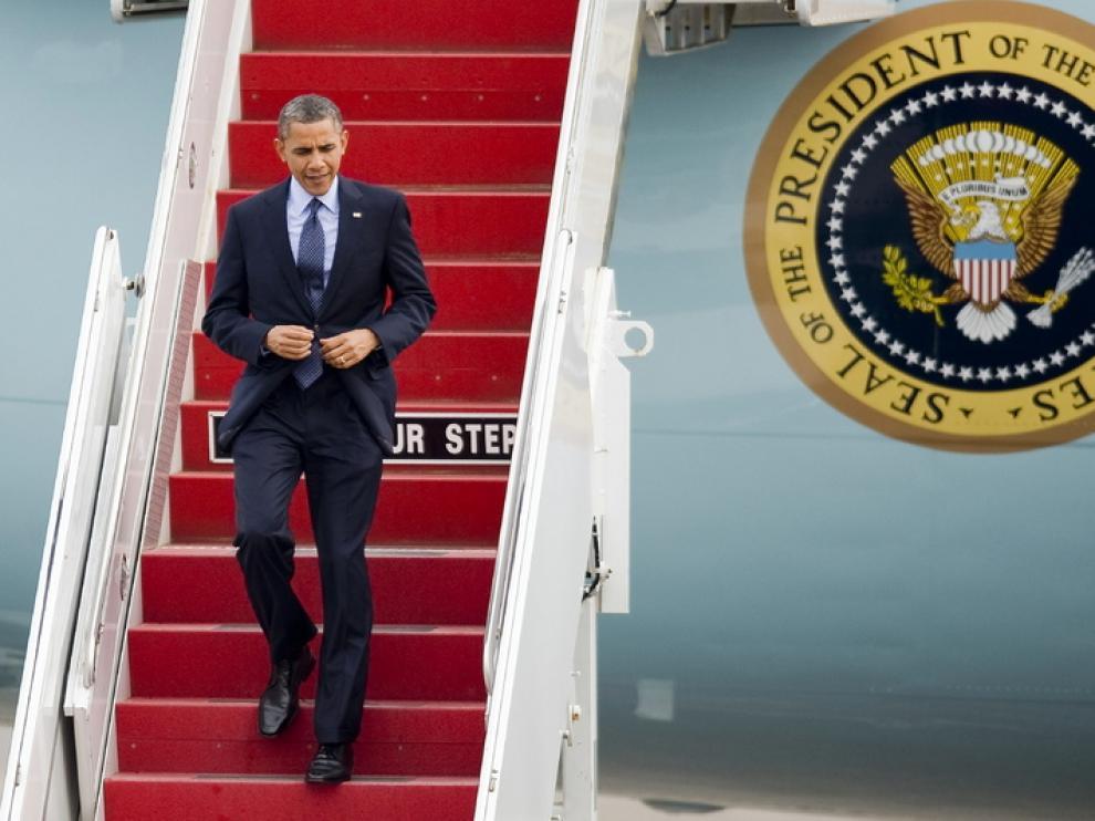 El presidente de Estados Unidos aterriza en Cartagena para asistir a la Cumbre de las Américas.