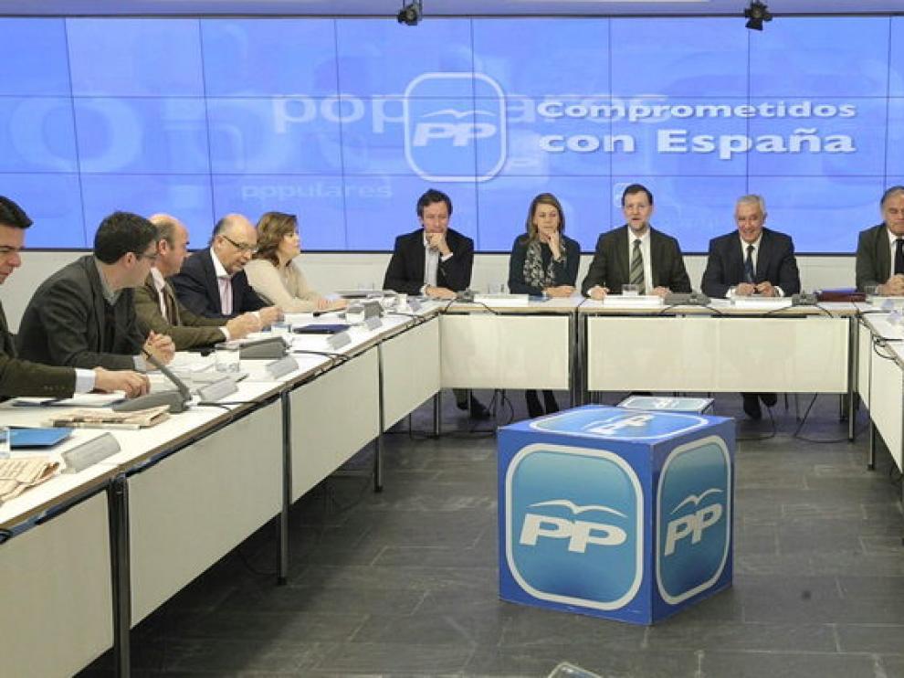 Reunión de Rajoy con los barones del PP