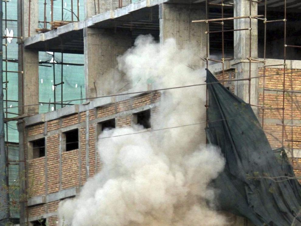 Un edificio en el centro de Kabul
