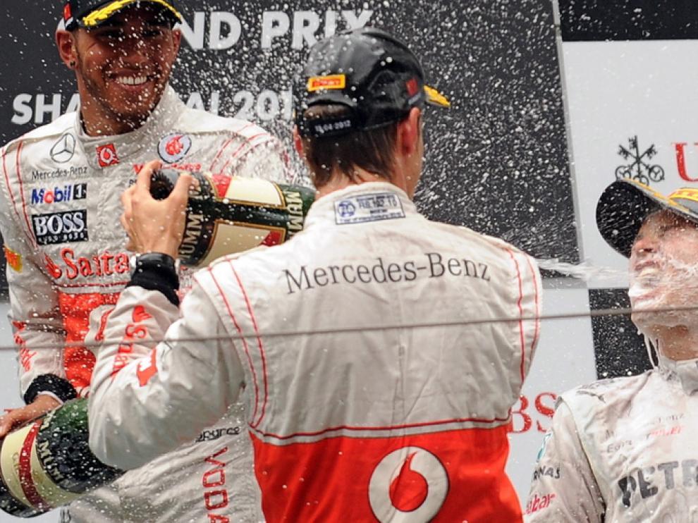 Rosberg (dcha.), ganador en China