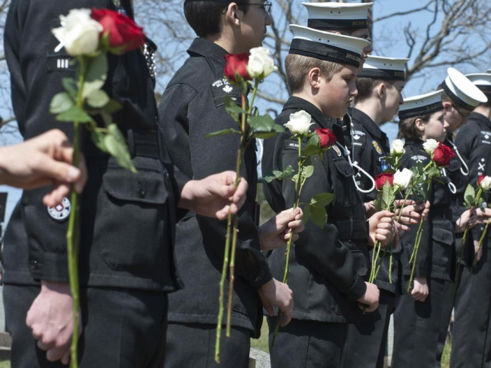 Homenaje a los fallecidos del Titanic