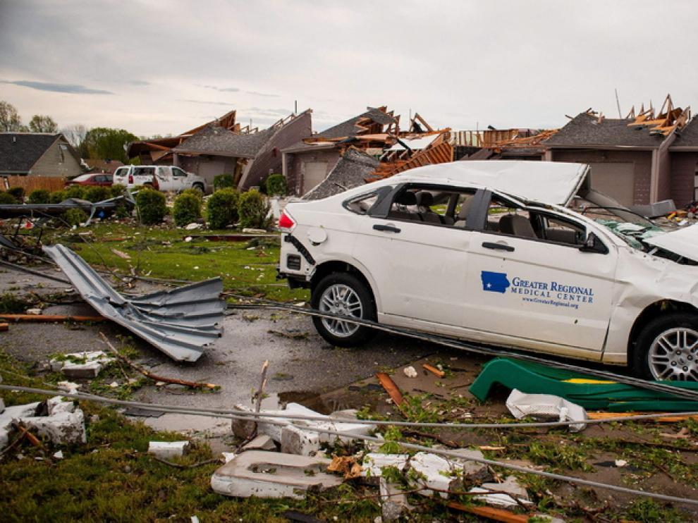 Estos son los daños que han producido los tornados en Iowa.