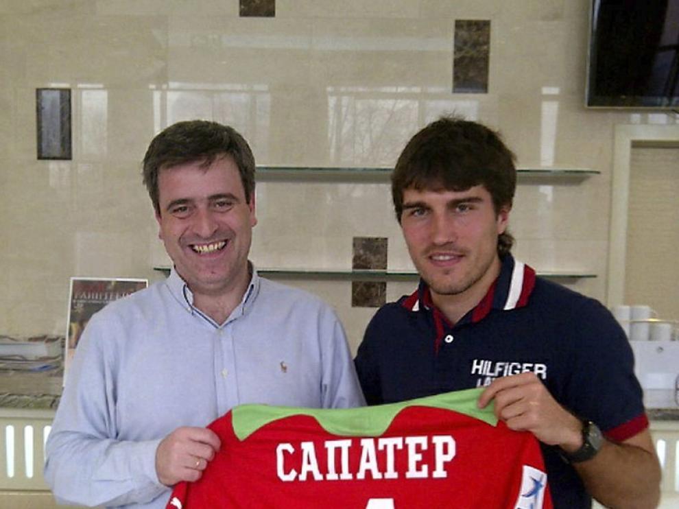 Zapater junto al presidente del CSD