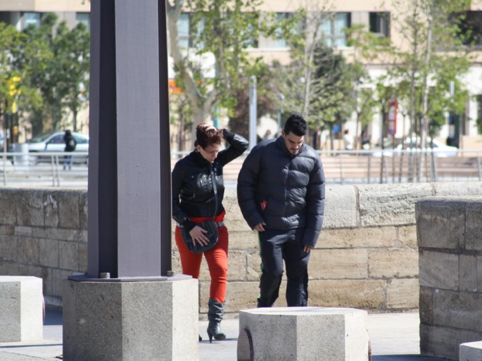El cierzo azota Zaragoza
