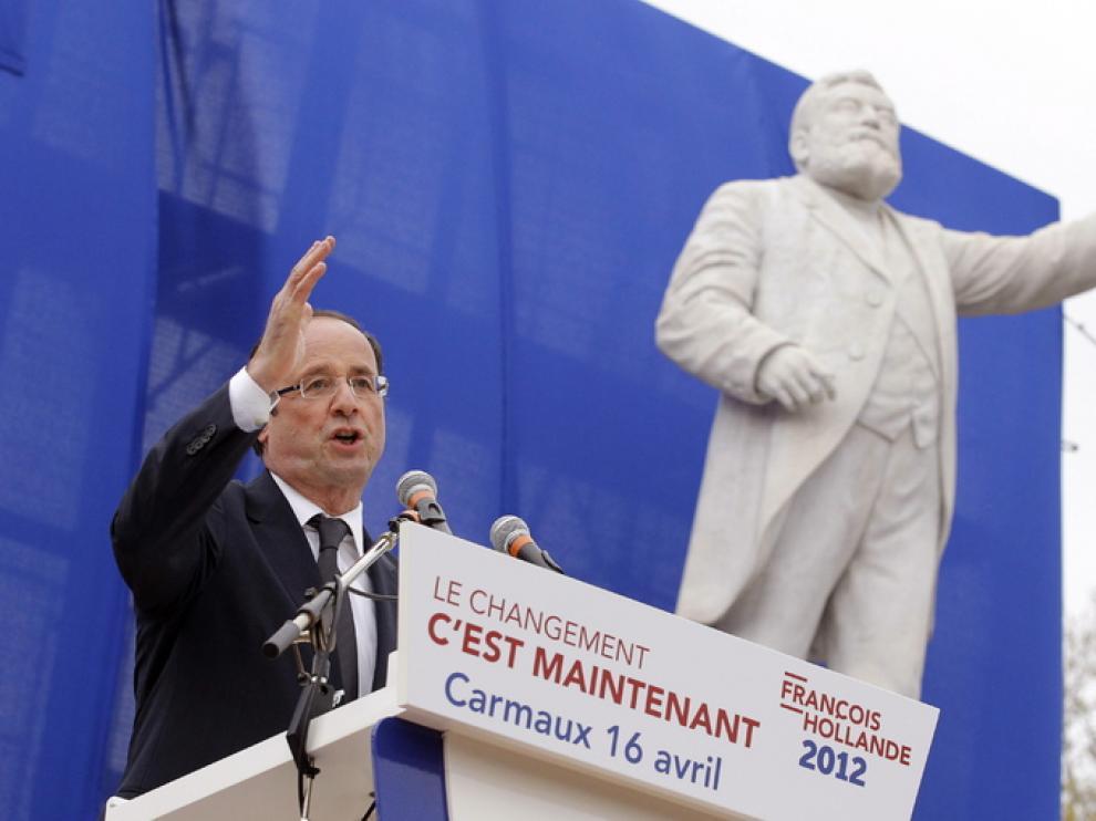 El candidato francés en un mitin reciente