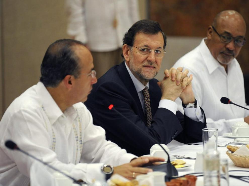 Rajoy durante su visita a México