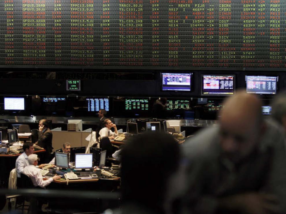 Vista de la Bolsa de Comercio de Buenos Aires