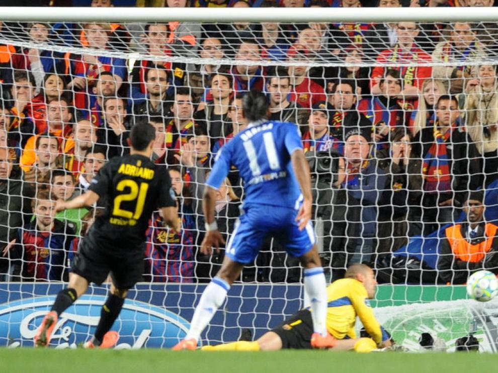 Drogba anotó el gol de la victoria