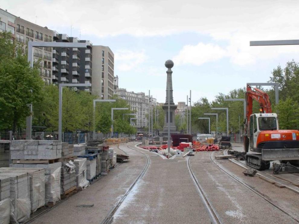 Avance de las obras del tranvía en el centro
