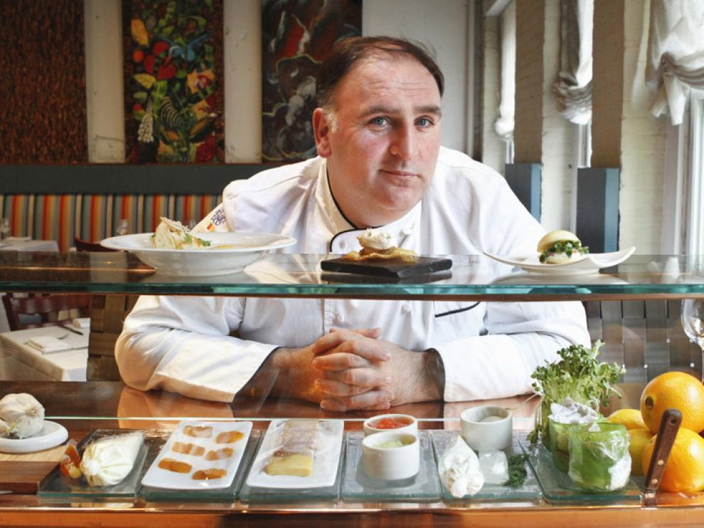 El cocinero español José Andrés