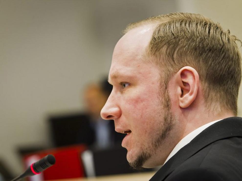 Breivik en el juicio