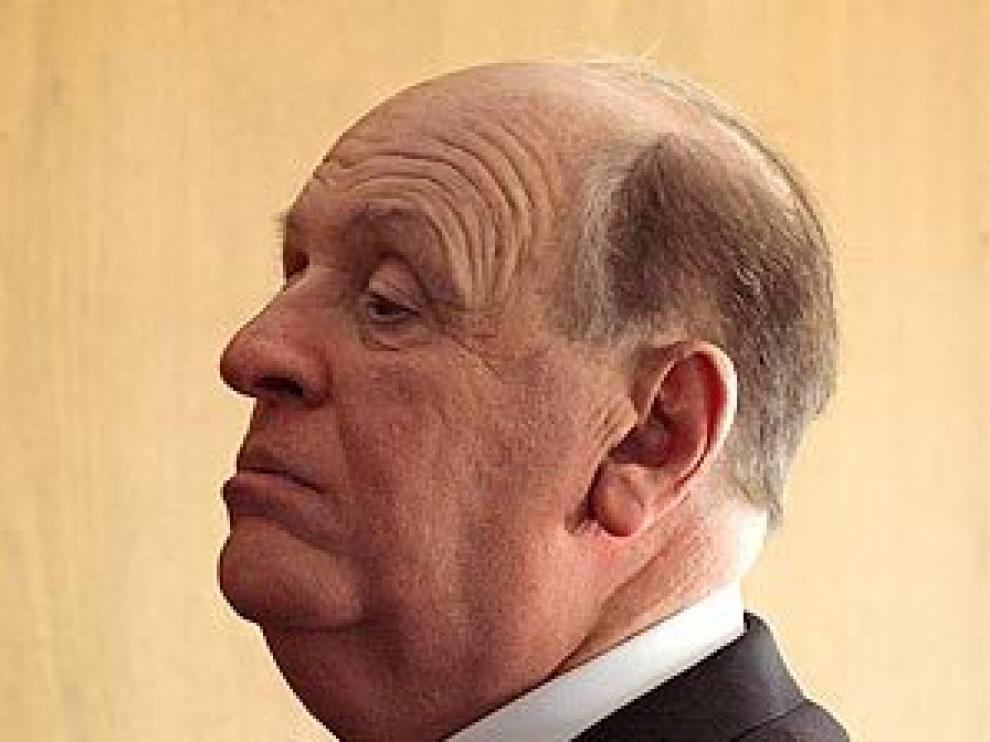 Antonhy Hopkins maquillado como Alfred Hitchcock