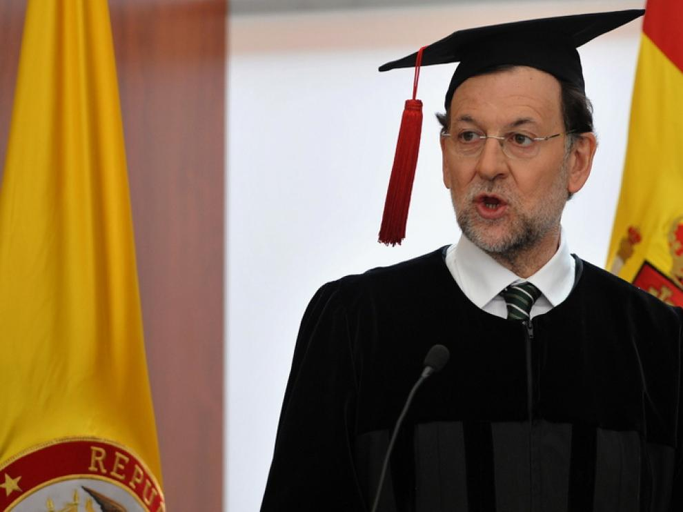 Mariano Rajoy investido doctor honoris causa en una universidad colombiana