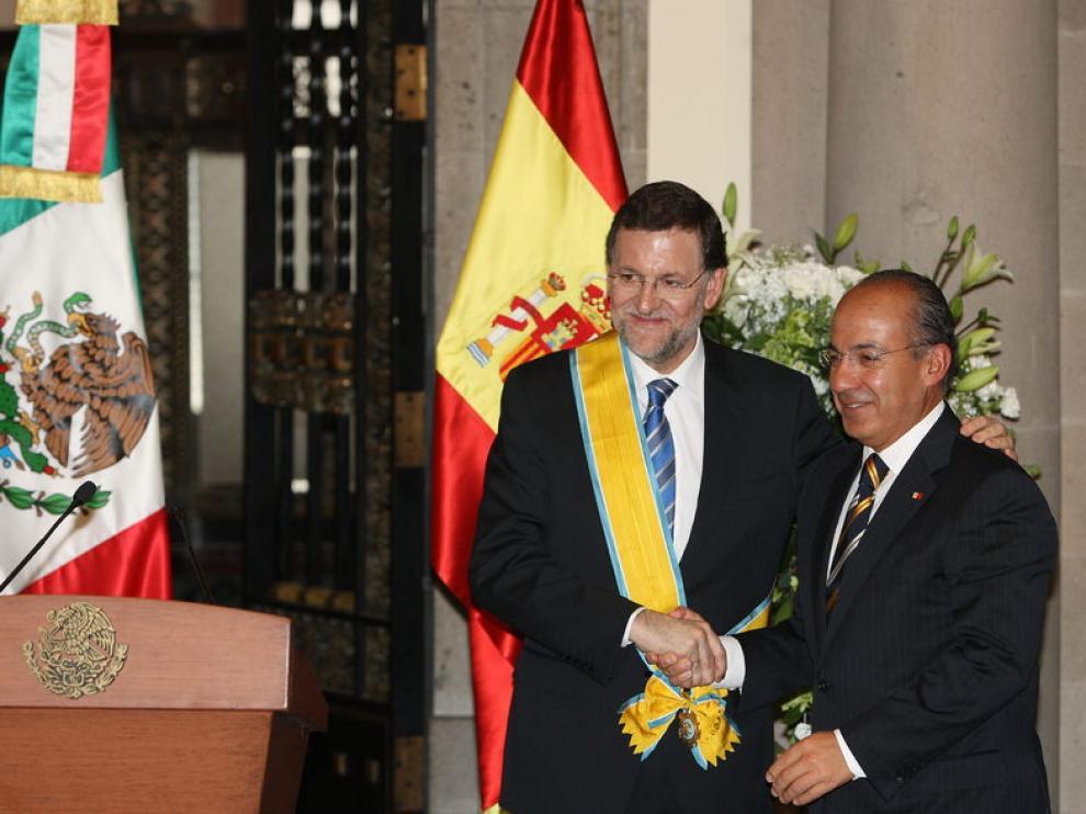 Rajoy en su visita a México