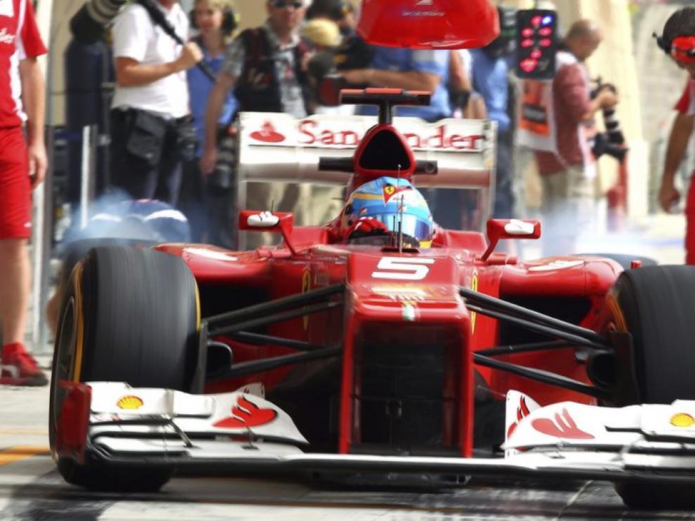 Alonso octavo en los entrenamientos libres