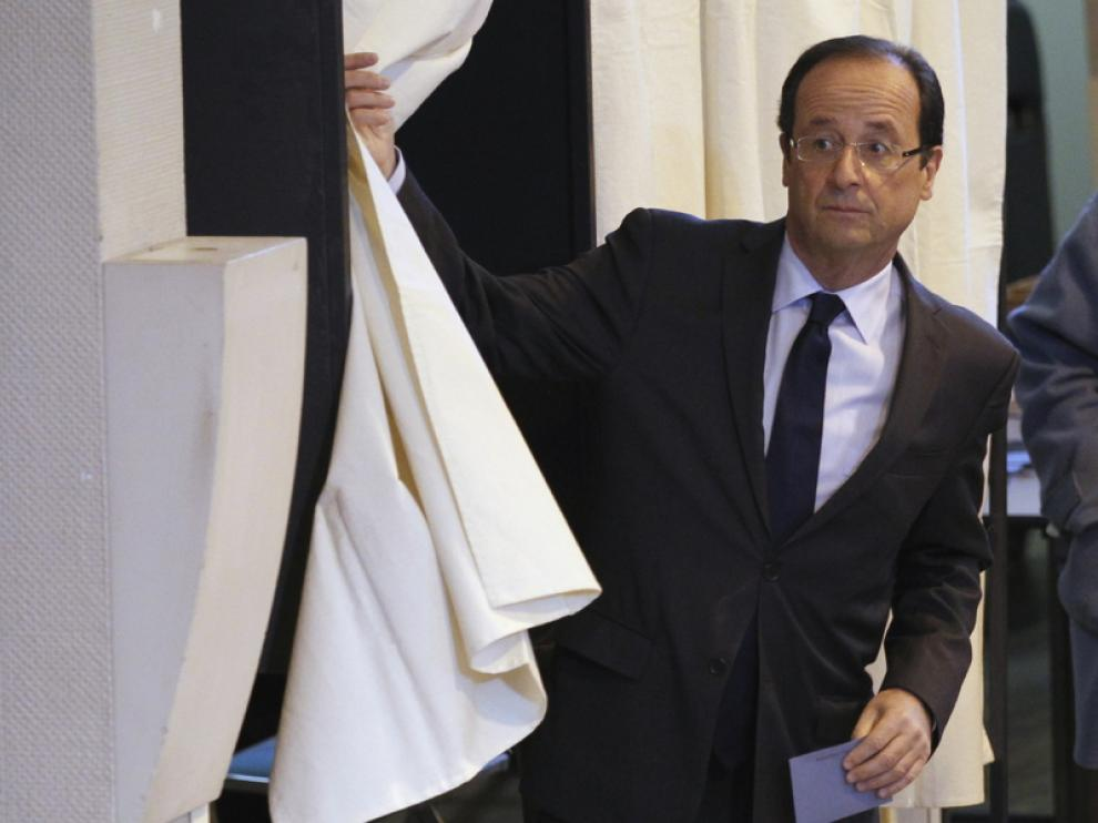 François Hollande vota en la localidad de Tulle