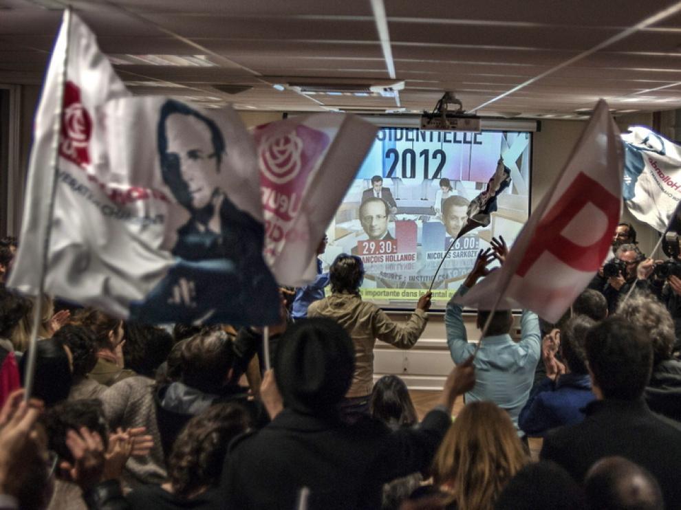 Victoria del candidato socialista François Hollande.