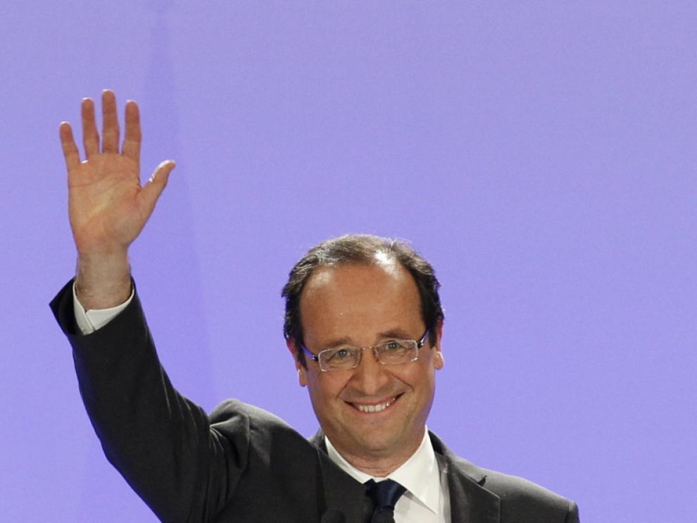 El candidato socialista François Hollande se impuso este domingo en la primera vuelta de las elecciones francesas.