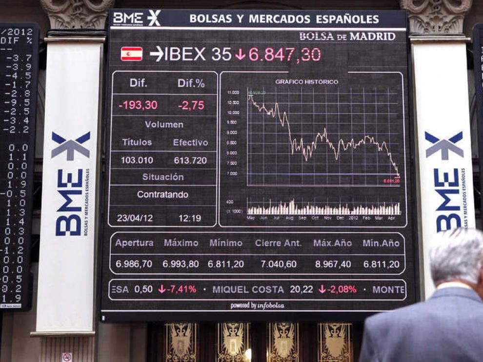 La Bolsa de Madrid, este lunes