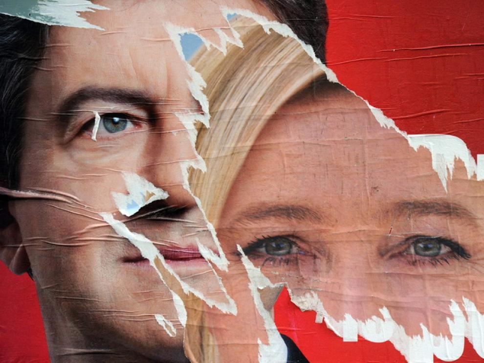 Marine Le Pen, en un cartel de propaganda