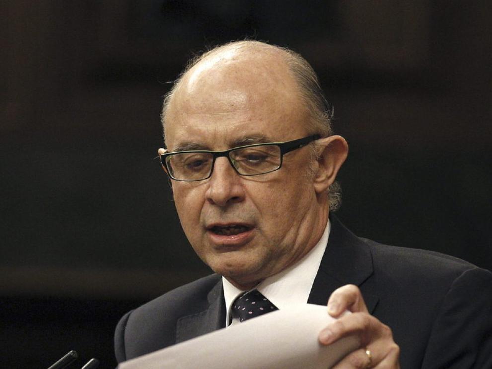 El ministro de Hacienda, Cristóbal Montoro, ha pedido apoyar las cuentas austeras.