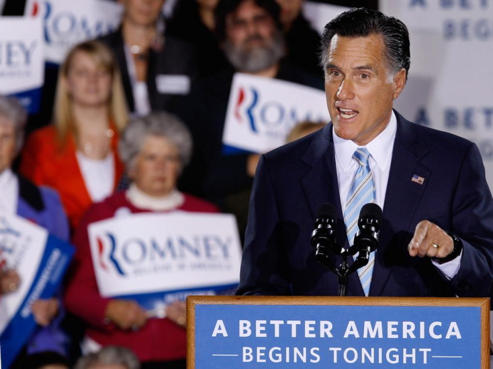Mitt Romney en un mitin