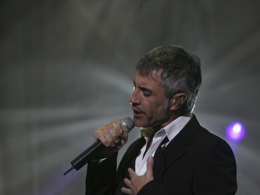 Sergio Dalma durante su actuación