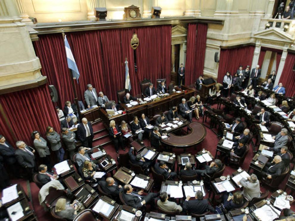 Votación en el Senado argentino
