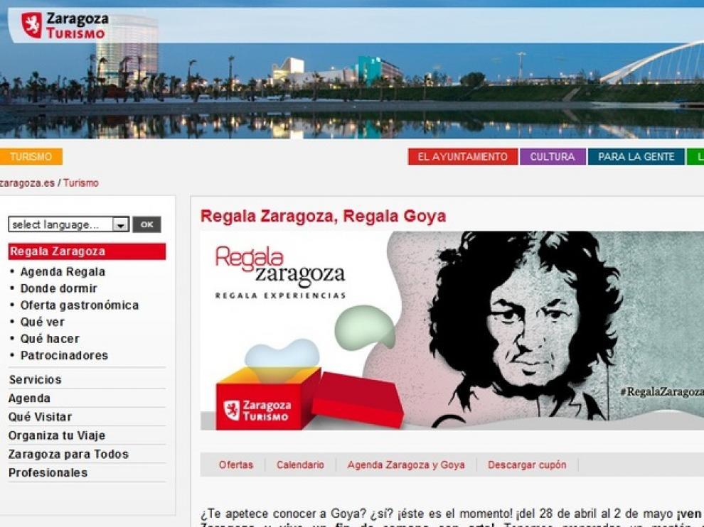 Portal de 'Regala Zaragoza'