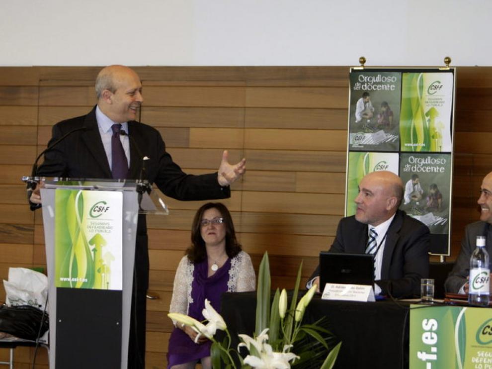 José Ignacio Wert en Zaragoza