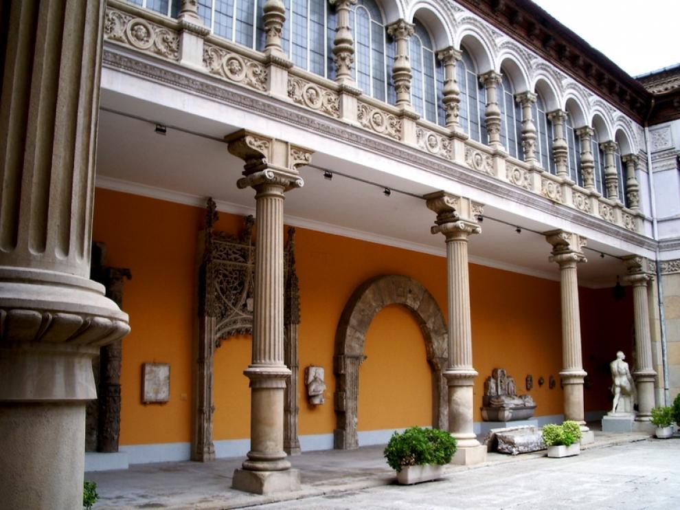Patio del museo de Zaragoza