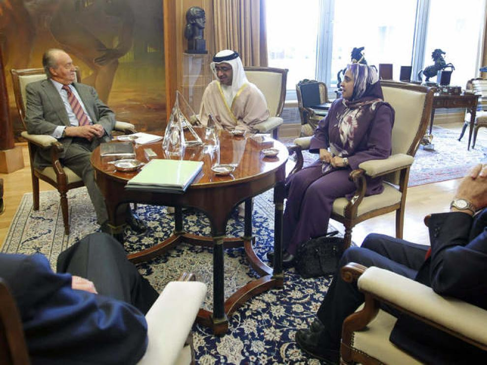 El Rey se lesionó tras una reunión en Zarzuela con el ministro emiratí de Asuntos Exteriores