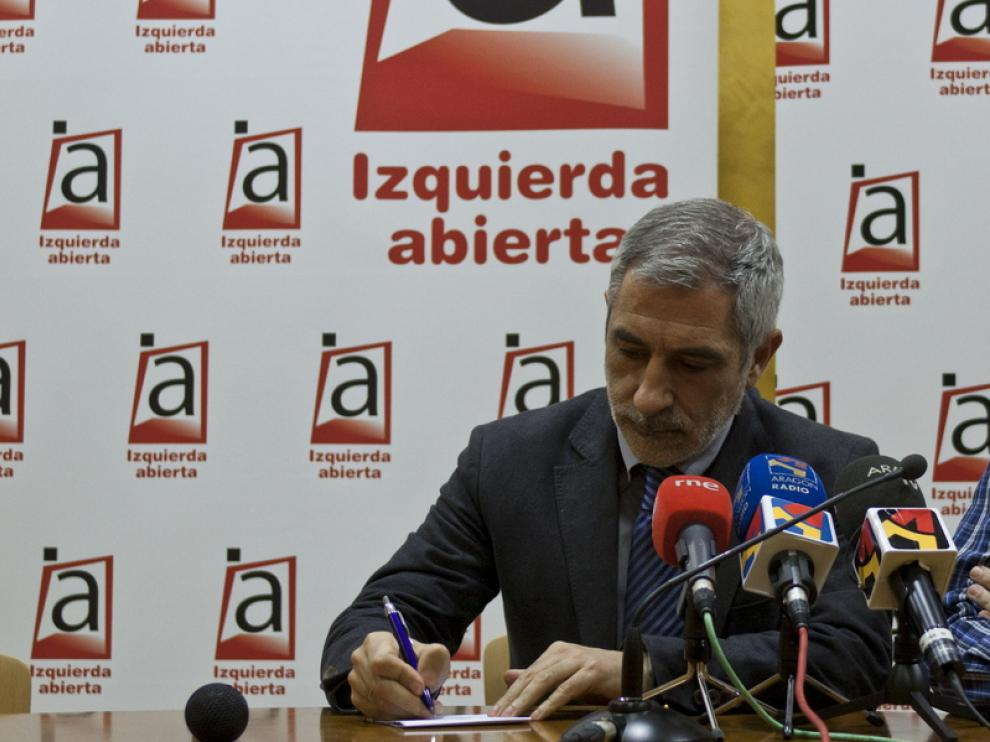 Llamazares en Zaragoza