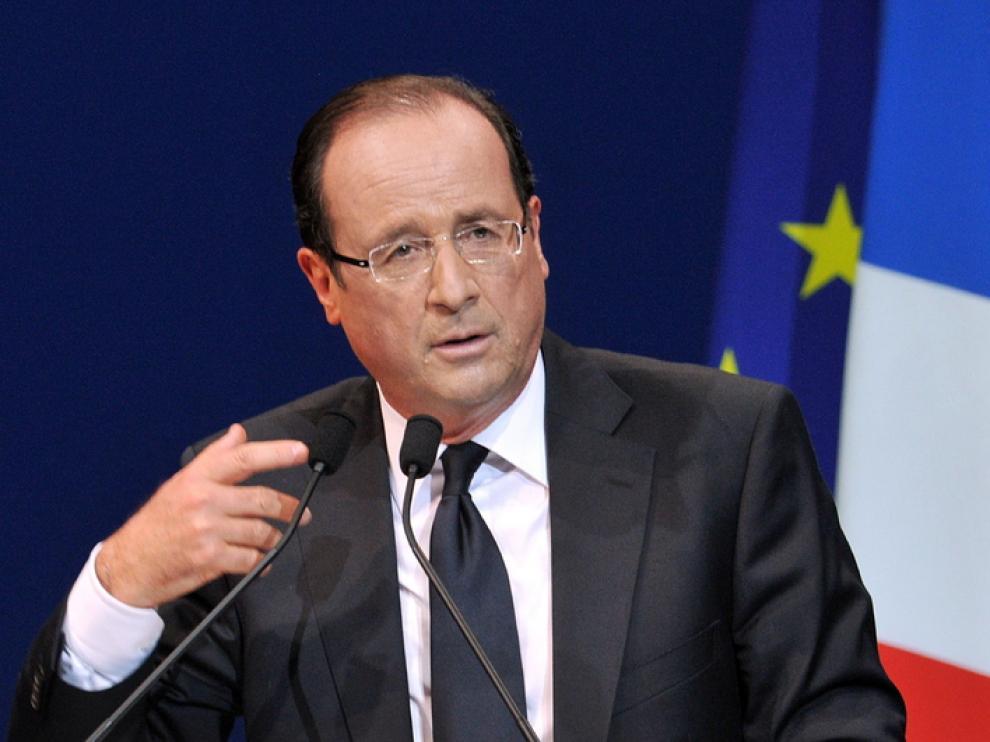 El candidato socialista a la presidencia francesa, François Hollande