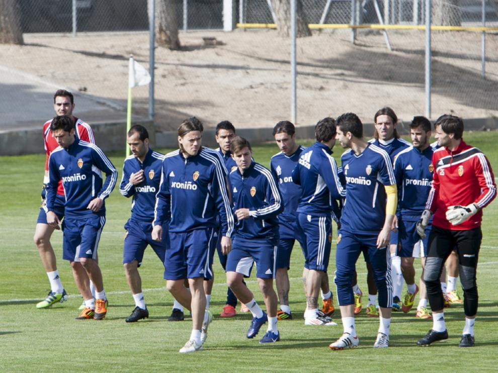 Imagen del entrenamiento del Real Zaragoza.
