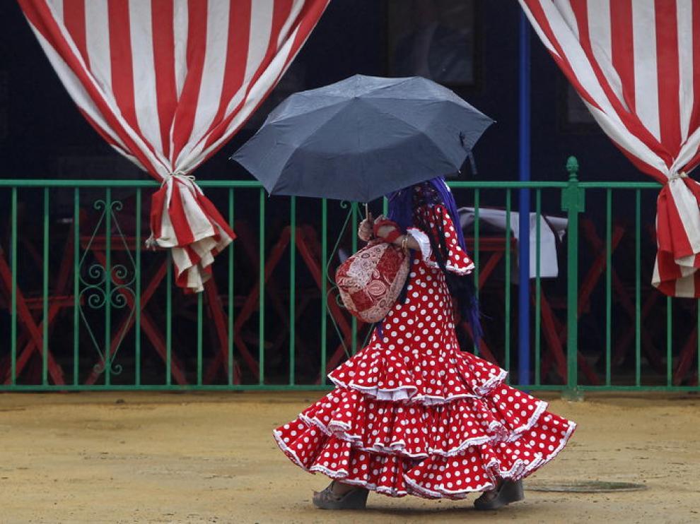 Los paraguas fueron protagonistas e los últimos días de la feria