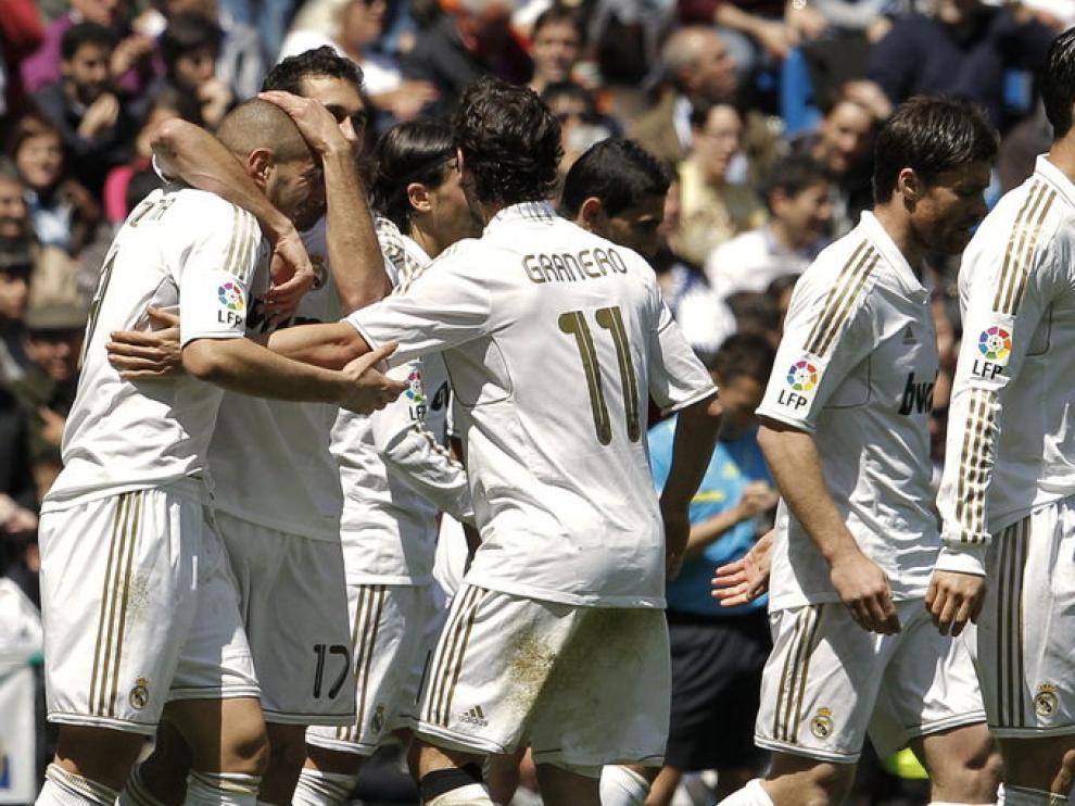 Un momento del partido entre el Real Madrid y el Sevilla