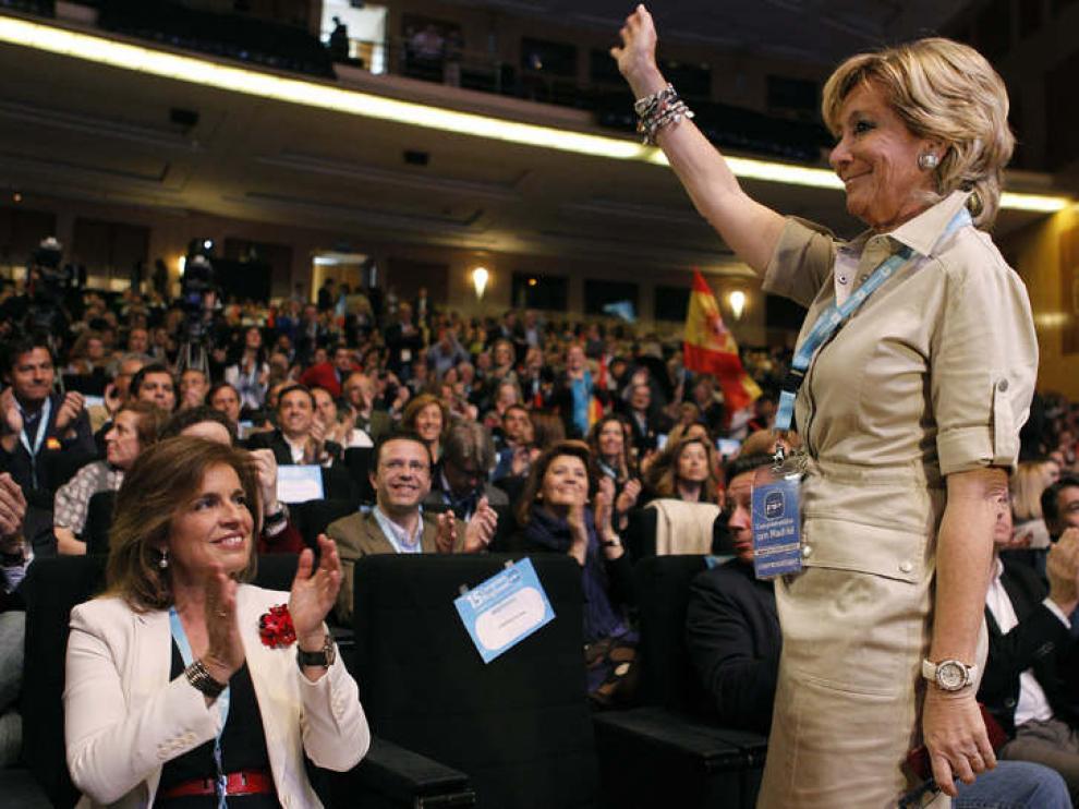 Aguirre el domingo en la clausura del Congreso Regional del PP madrileño