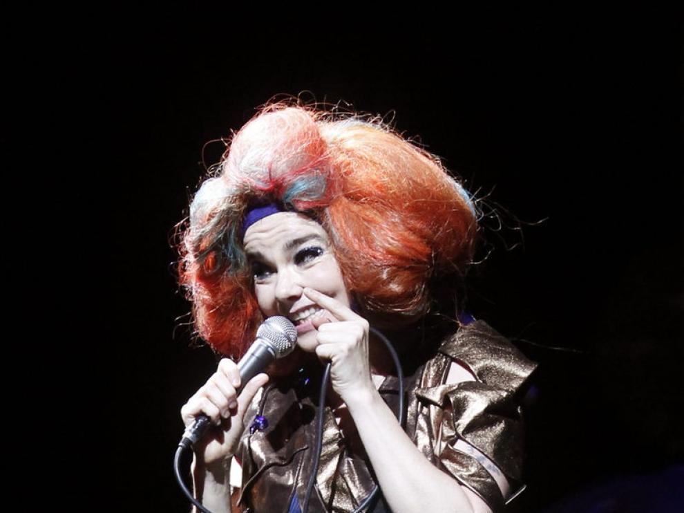 Björk, en un concierto en marzo en Chile